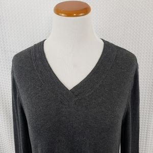 LOGO by Lori Goldstein Tops - Logo Lori Goldstein Gray Cotton Cashmere Tunic Med